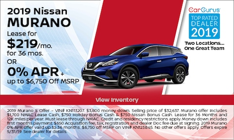 May 2019 Murano Lease Offer