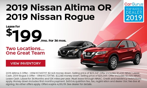 April 2019 Altima & Rogue Lease Offer