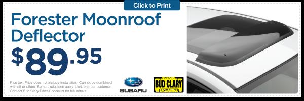 Subaru Longview Moonroof Deflector Parts Accessory Special