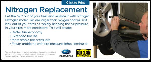 Longview Subaru Replace Your Air With Nitrogen Bud Clary Subaru