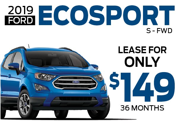 2019 Ford Ecosport Lease For 149 Per Month In Greensburg Pa