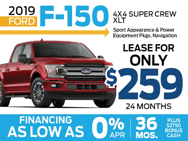 0 Apr For 36 Months On The New 2019 Ford F 150 Truck