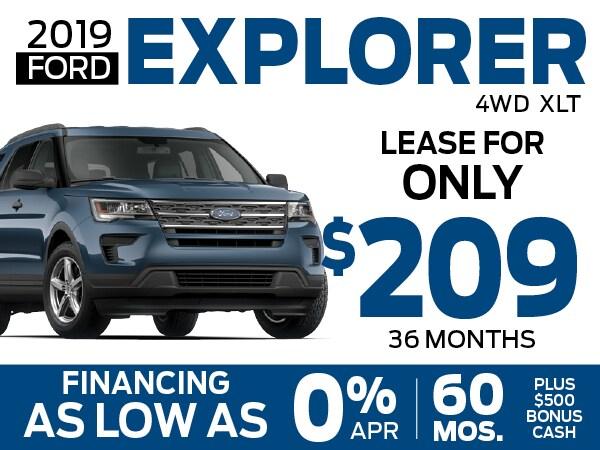 2019 Ford Explorer 0 Apr For 60 Months