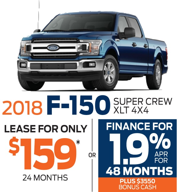 2018 Ford F-150 Lease and Finance Offers