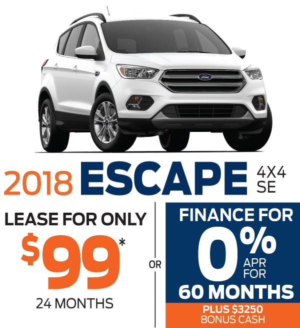 new ford escape lease or finance specials at smail ford in