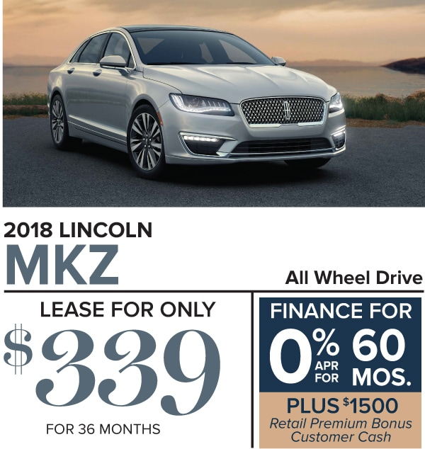 2018 Lincoln MKZ Lease and Finance Offers