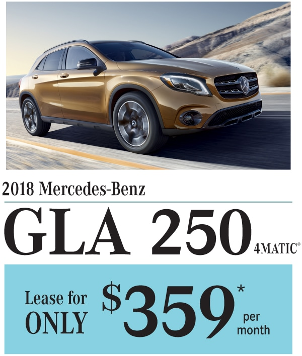 2018 Mercedes-Benz GLA 250 Lease Offer