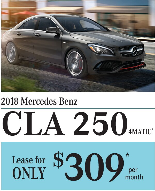 2018 Mercedes-Benz CLA 250 Lease Special Offer at Smail - May 18