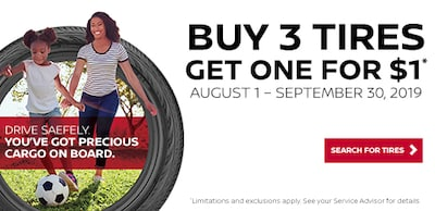 Buy 3 Tires and Get One for $1*