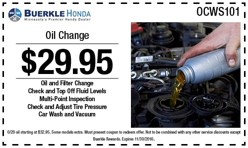 Honda service coupons mn