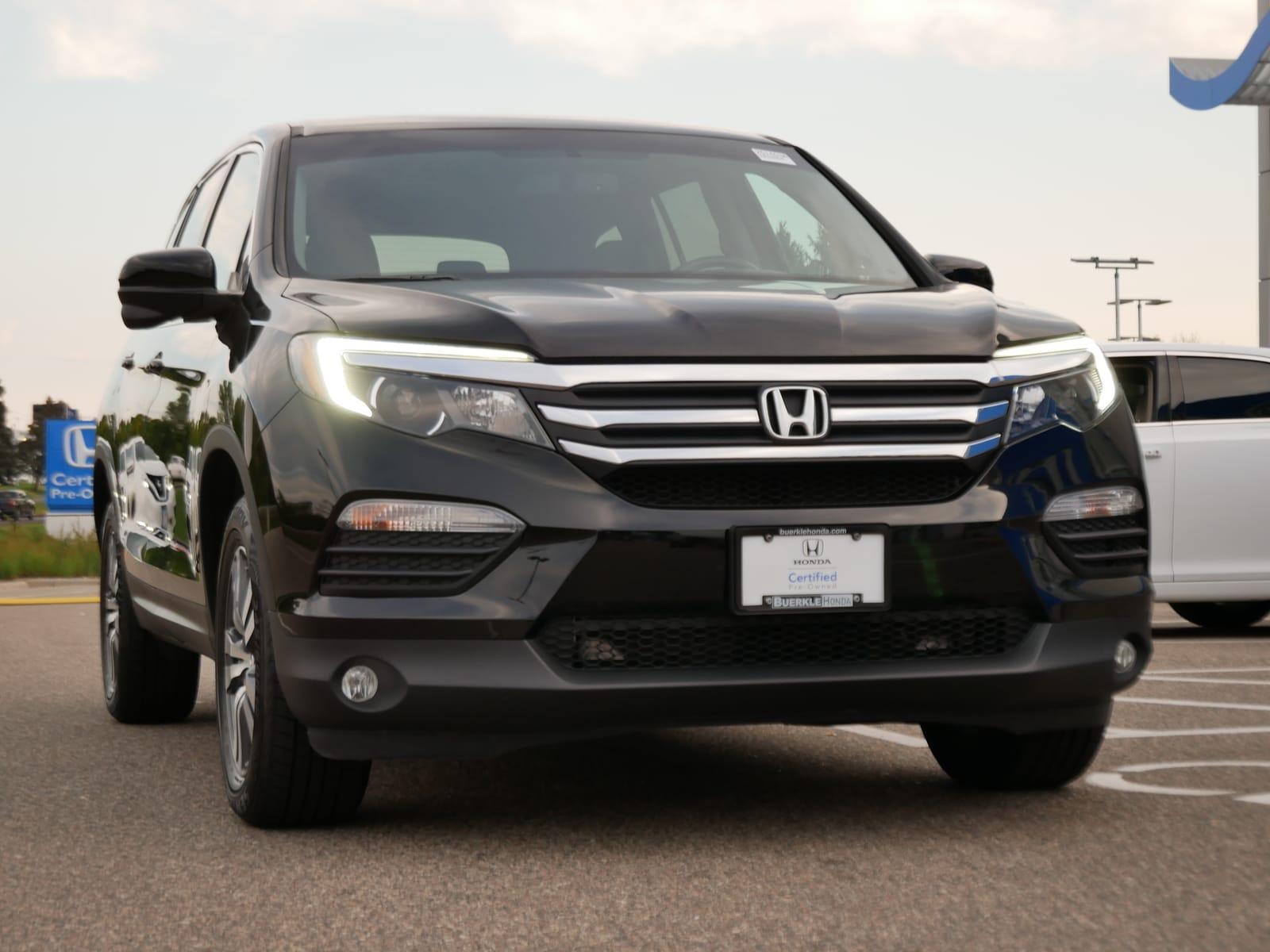 Certified 2018 Honda Pilot EX-L with VIN 5FNYF6H52JB068307 for sale in Saint Paul, Minnesota