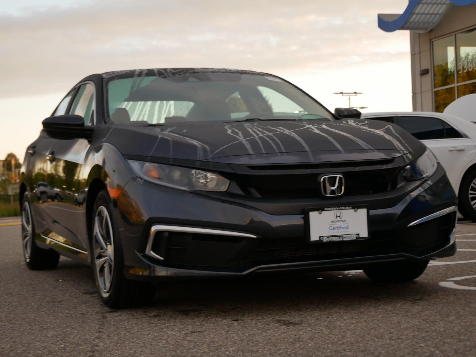 Certified 2019 Honda Civic LX with VIN 19XFC2F68KE019995 for sale in Saint Paul, Minnesota