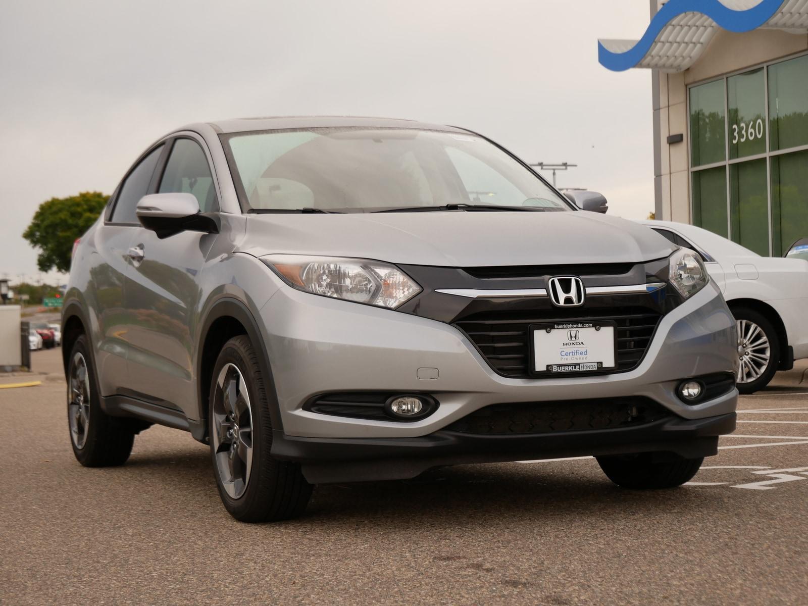 Certified 2018 Honda HR-V EX with VIN 3CZRU6H58JG729689 for sale in Saint Paul, Minnesota
