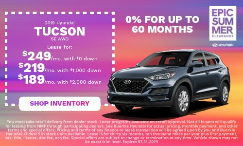 July | 2019 Hyundai Tucson