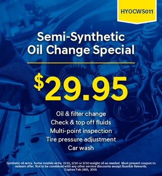 Semi-Synthetic Oil Change