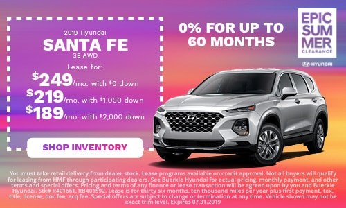 July | 2019 Hyundai Santa Fe