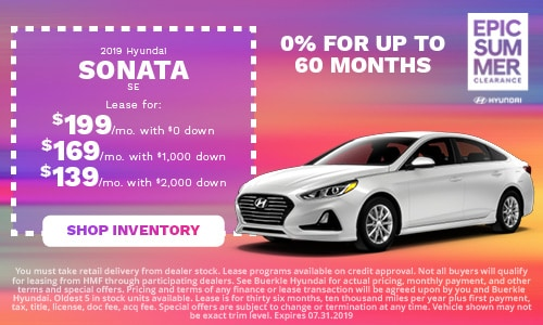 July | 2019 Hyundai Sonata