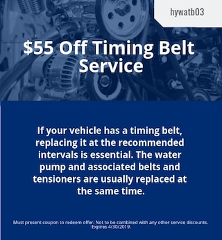 March | $55 Off Timing Belt Service