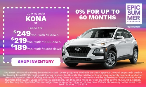 July | 2019 Hyundai Kona