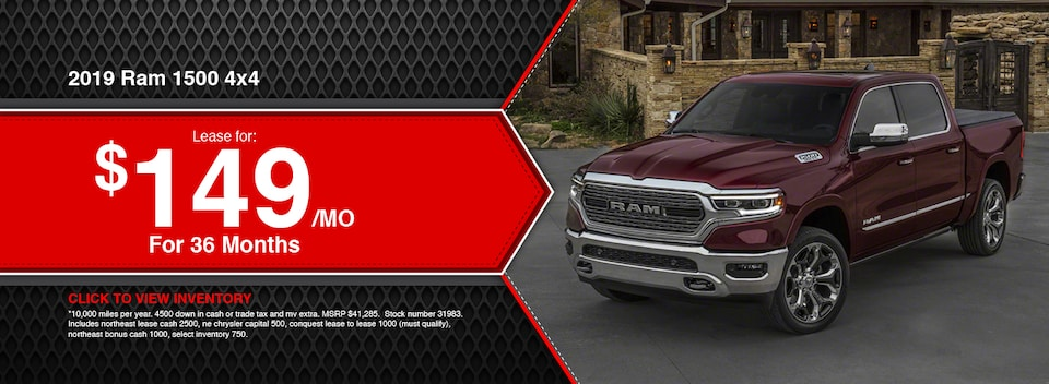 2019 RAM 1500 4x4 Lease Special