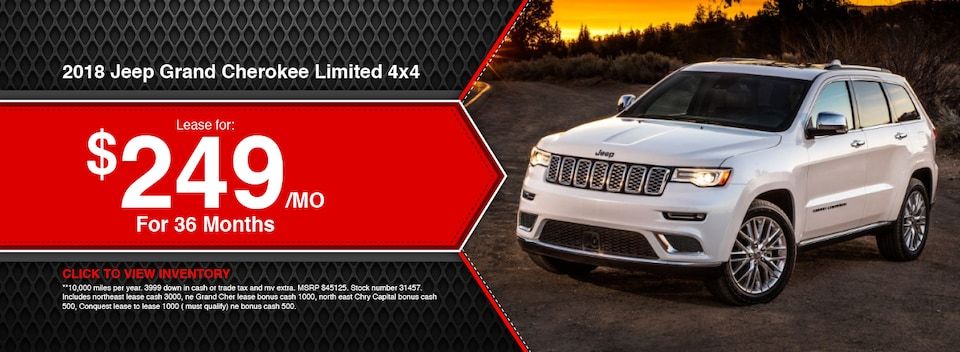 2018 Jeep Grand Cherokee Limited 4x4 Lease Special