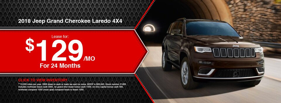 2018 Jeep Grand Cherokee Laredo 4X4 Lease Special