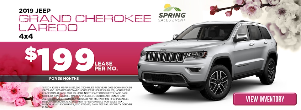 2019 Jeep Grand Cherokee Laredo 4x4 Lease Special