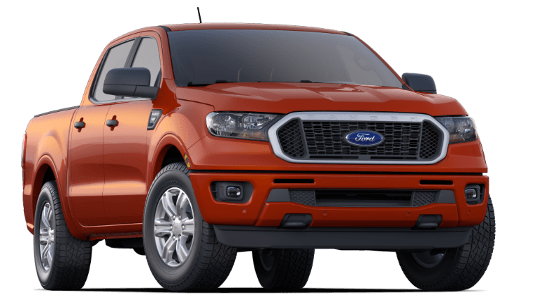 2019 Orange Ford Ranger XLT
