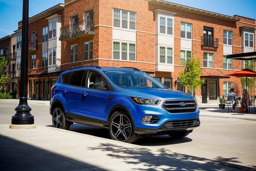 2019 Blue Ford Escape Parked on the Street