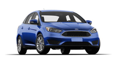 A blue 2018 Ford Focus SE