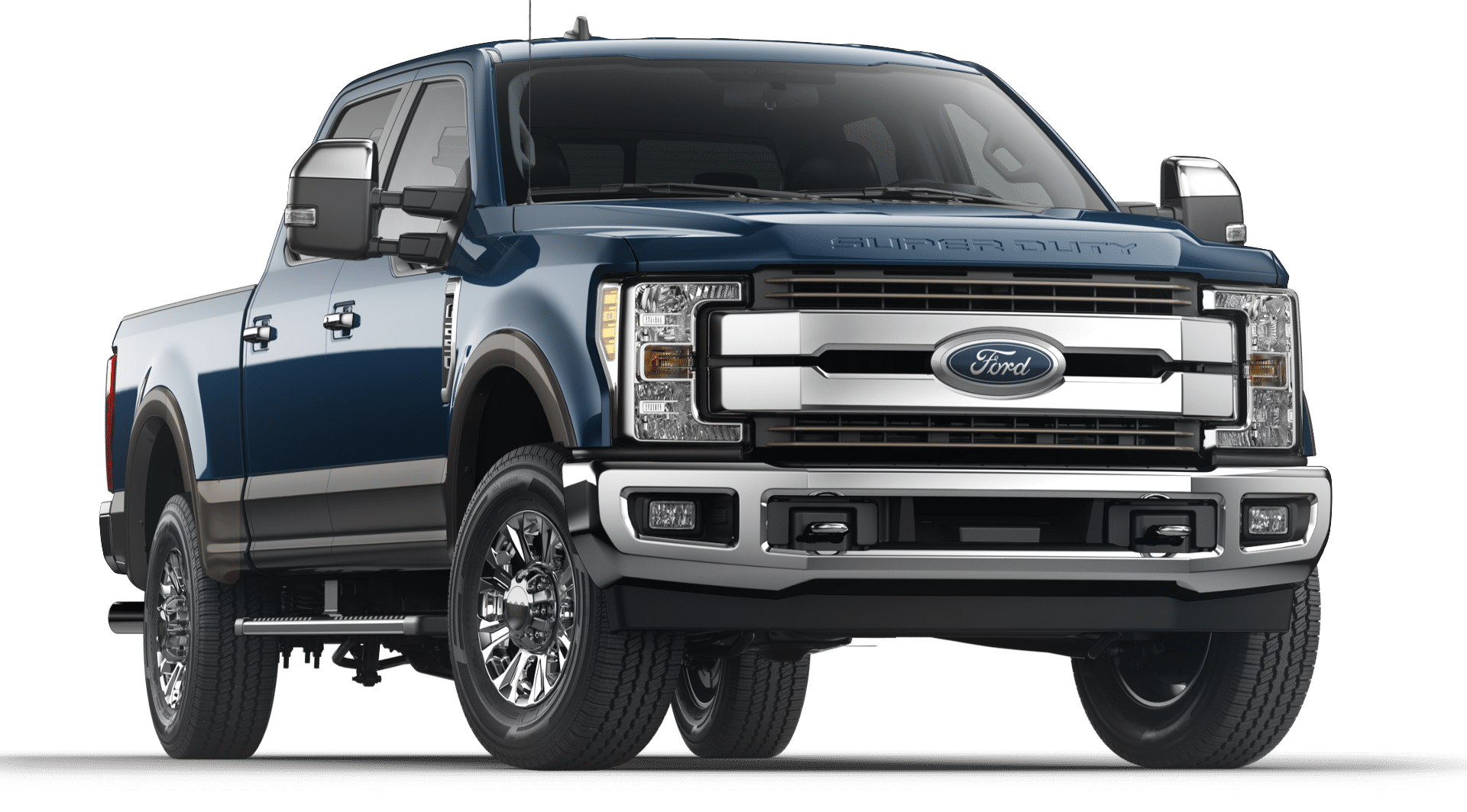 2019 Blue Ford F-250 King Ranch