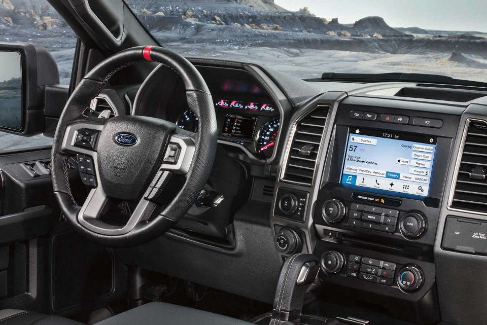 Interior of a 2018 Ford F-150