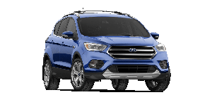 A blue Ford SUV