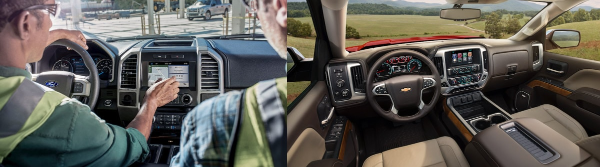 2019 Ford F-150 vs. 2019 Chevy Silverado 1500 Interior Comparison
