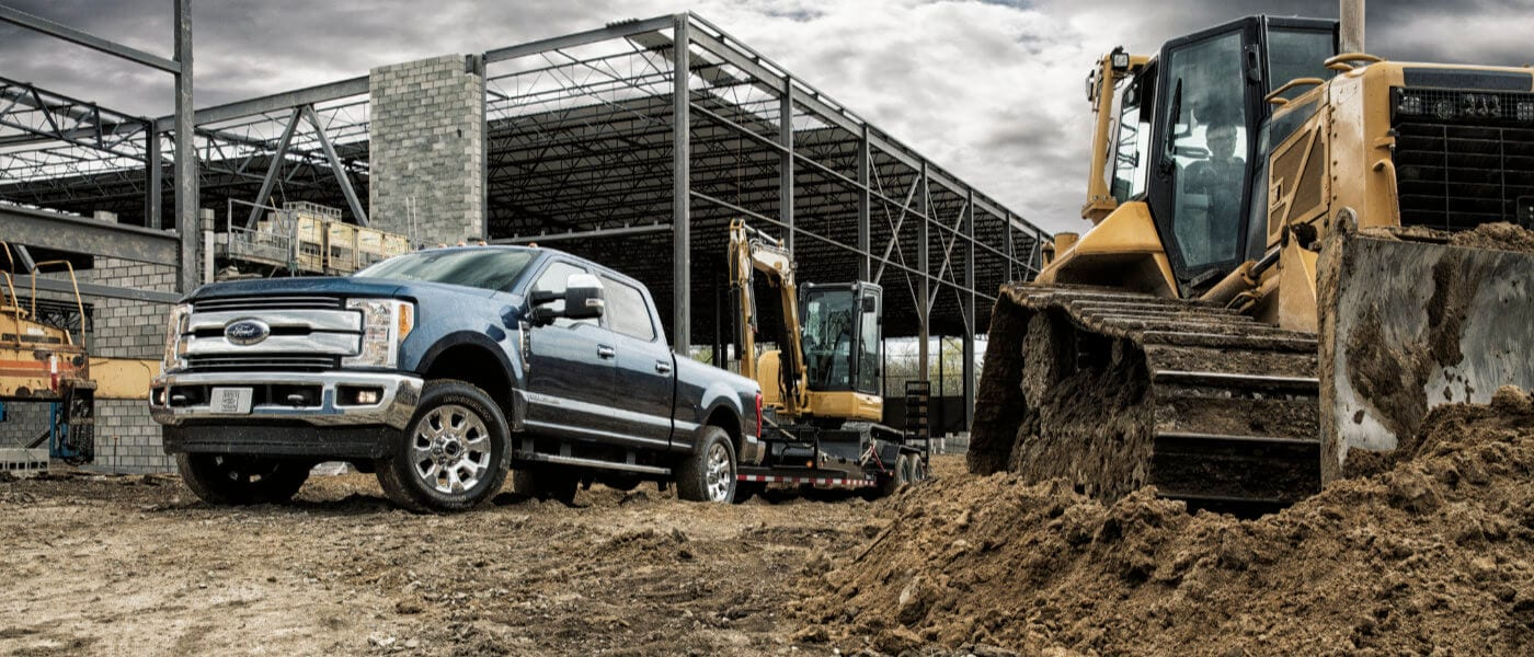 2019 Blue Ford F-250 on The Construction Site