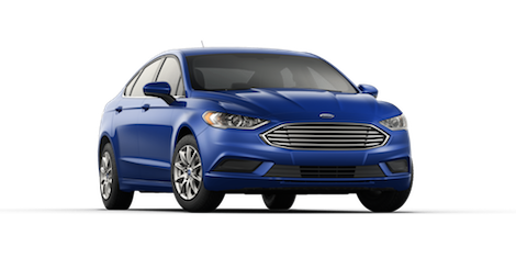 A blue 2018 Ford Fusion