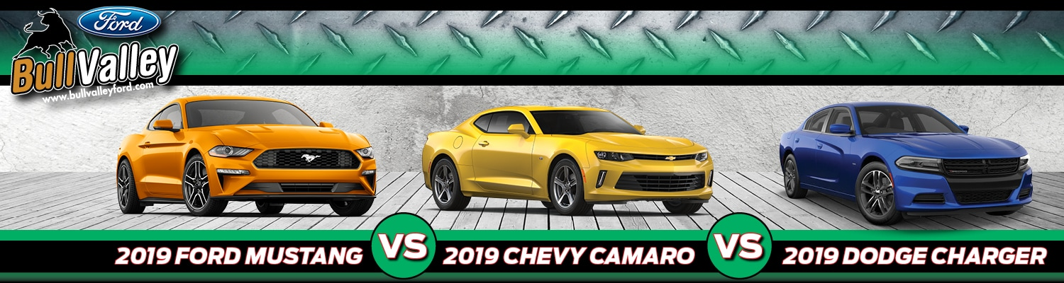 2019 Ford Mustang vs. Chevy Camaro vs. Dodge Charger