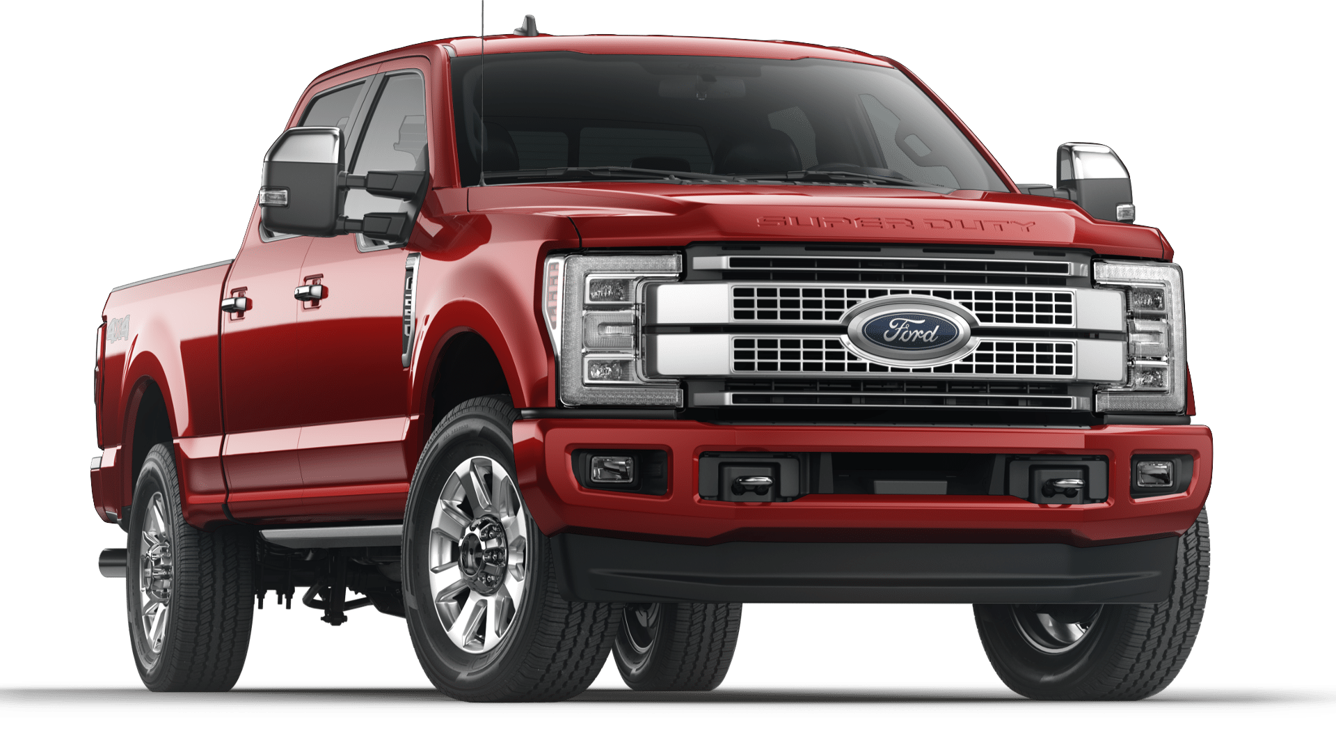 2019 Red Ford F-250 Platinum
