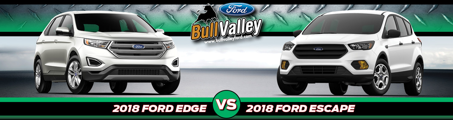Ford Edge Vs  Ford Escape Suv Comparison