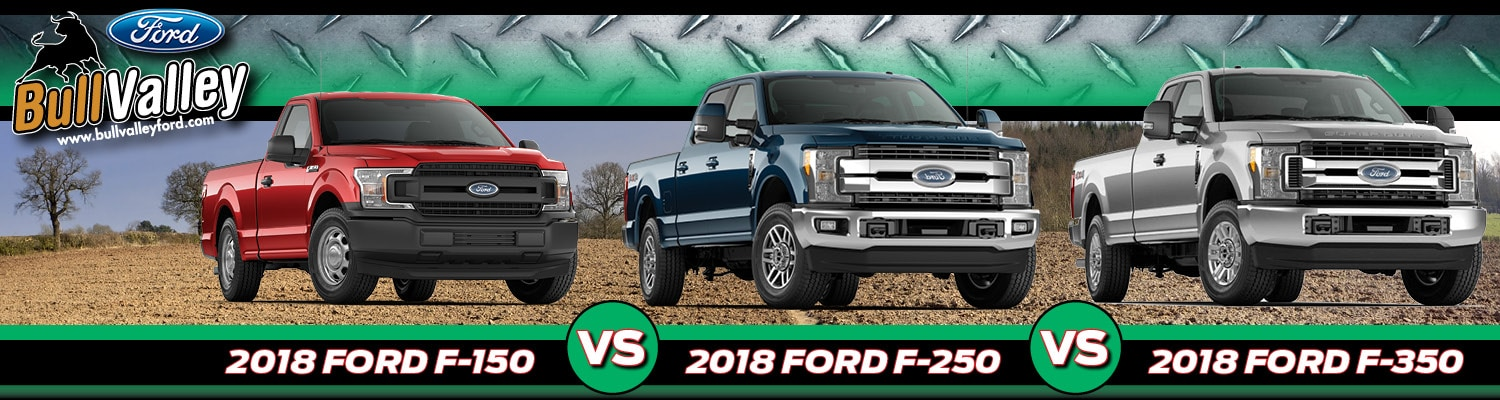 comparison of the 2018 ford f 150 f 250 f