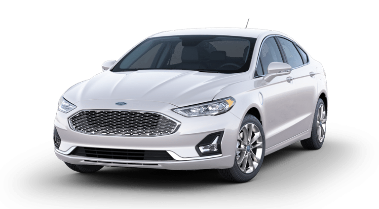 2020 White Ford Fusion Plug-in Hybrid
