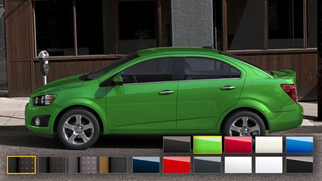 2016 Chevrolet Sonic Color Options Burdick Chevrolet