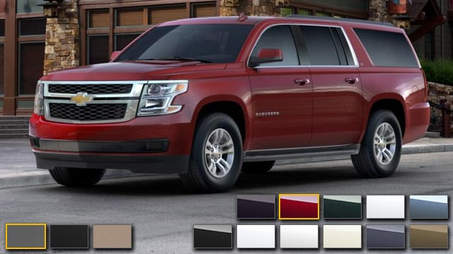 2016 Chevrolet Suburban Color Options Burdick Chevrolet