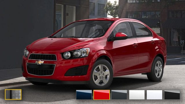 2016 Chevrolet Sonic Color Options | Burdick Chevrolet ...