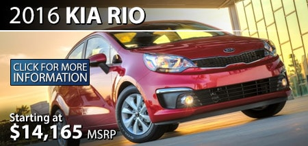 Learn More About the 2016 Kia Rio at Burdick Kia