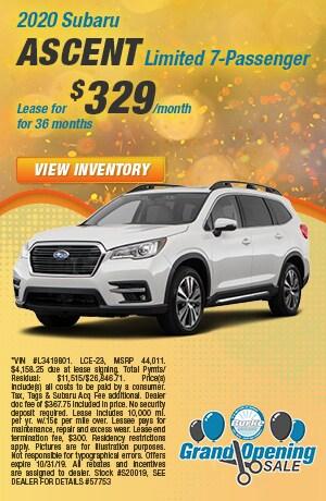 October - 2019 Subaru Ascent