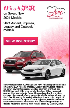 0% APR on Select New 2021 Models