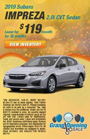 October - 2019 Subaru Impreza