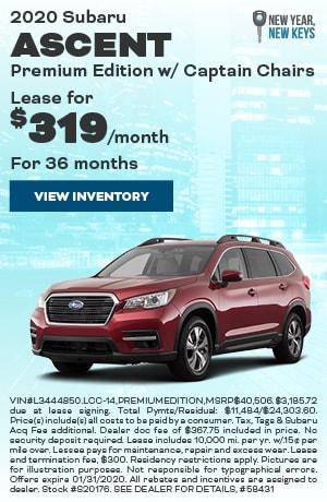 January 2020 Subaru Ascent