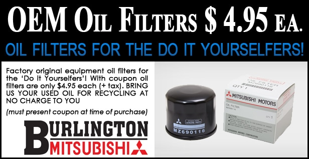 Mitsubishi Oil Filter Coupon